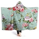 Manta con capucha de gran tamaño, súper suave, cálida, cómoda, para hombres, mujeres, adolescentes, niños, mariscos, sushi, langostinos wasabi, japoneses, 20.2 x 152.2 cm