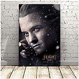 chtshjdtb Wandkunst Gemälde Film Der Hobbit Legolas Poster Leinwand Stoff Drucke für Wohnkultur -50x75cm Kein Rahmen
