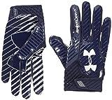 Under Armour Men's Spotlight Football Receiver Gloves,Midnight Navy (411)/White, Small/Medium