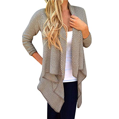 Fantastic Prices! HNTDG Women Autumn Soft Knitted Slouchy Oversized Wrap Cardigan Irregular Long Sle...