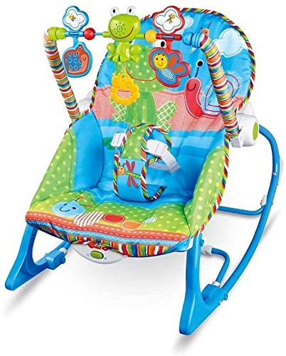 HUIYAN Bouncers Swings Jumpers MultiFunction baby bouncer baby rocker can adjustable Soothing Music Vibration and Toys Rocking Chair Baby Cradle New Gift for Newborns Babies