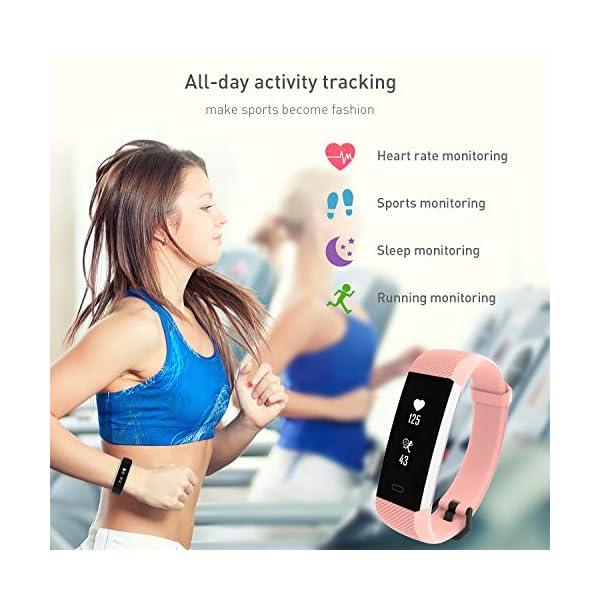 Fitpolo Pulsera Actividad, Impermeable IP68 Fitness Tracker Mujeres con Pulsómetro, Reloj Inteligente para Deporte… 8