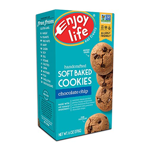 Enjoy Life Soft Baked Cookies Soy free Nut free Gluten free Dairy free Non GMO Vegan Chocolate Chip 1 Box