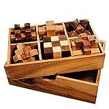 Casa Vivente Gadget Storm 6er Set Knobelspiel für Erwachsene, Geduldspiele aus Holz, 3D Holzpuzzle,...