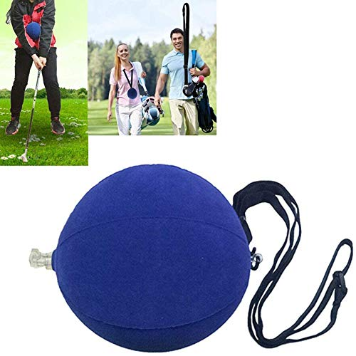 FunMove Golf Impact Ball Golf Swing Trainer Aid Smart Assist Practice Ball Teaching Posture Correction Training Adjustable Intelligent Arm Motion Guide Blue (Blue)