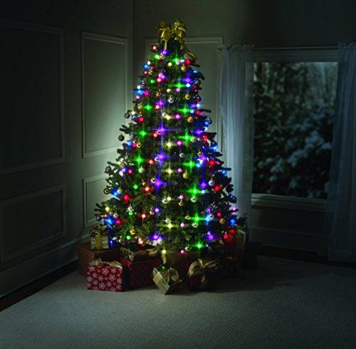 BESTOFTV Tree Dazzler Ghirlanda di Natale con 64lampadine luminose, con telecomando, colore: Verde, dimensioni: visto in TV