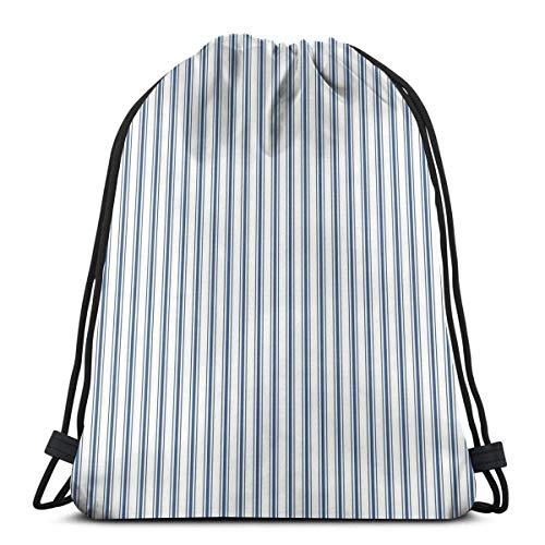 Asa Dutt528251 Kordelzug Taschen Gym Bag Matratze Ticking Narrow Striped Pattern In...