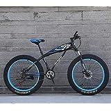 MOREWEY 前後泥除け装備 アウトドアスポーツスノーバイク、26「/ 24」ビッグホイールマウンテンバイク、7Speedデュアルディスクブレーキ、強いShockAbsorbingフロントフォーク、屋外オフロードビーチバイク 子供用 (Color : E, Size : 26)