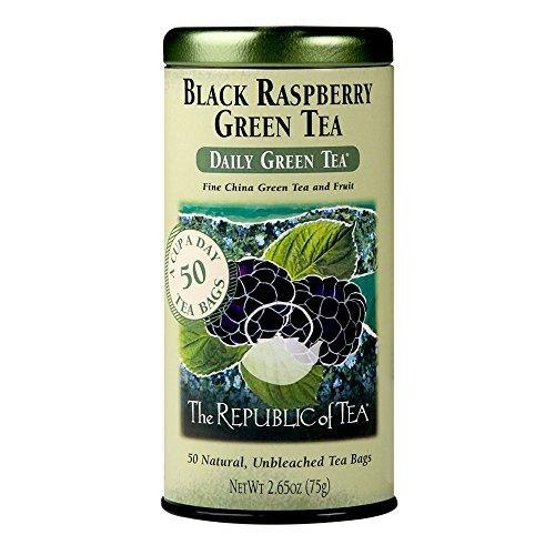 REPUBLIC OF TEA Black Raspberry Green Tea, 50 CT