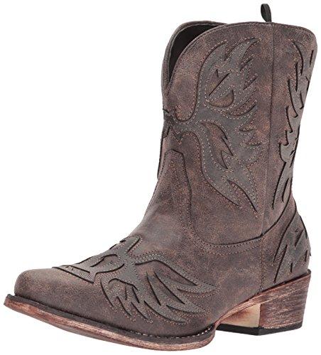 Roper Women's Amelia Western Boot, brown, 8.5 Medium US