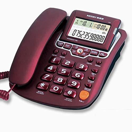 HGJSMN Teléfono Fijo teléfono Fijo, portátil de Escritorio con Cable de teléfono en Tiempo Real con identificador de Llamadas, devolución de Llamada, grabación de Llamadas, casa/Oficina/Altavoz ho