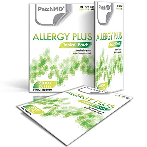 PatchMD – Allergy Plus Topical Patches – 100% Natural, May Help Reduce, Support, and Stabilise Inflammatory Allergic Reactions All Year Long– 30 Day Supply'