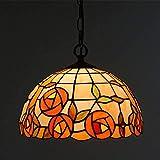 DXDUI Tiffany lámpara de Pared de Estilo Retro 2 Cabecera manchada Linterna Pared, Sencilla Cama de Hierro Forjado Pasillo del Aplique de la Sala de Estar,Segundo