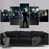 5 Stück Leinwand Malerei The Walking Dead Movie Poster Hd