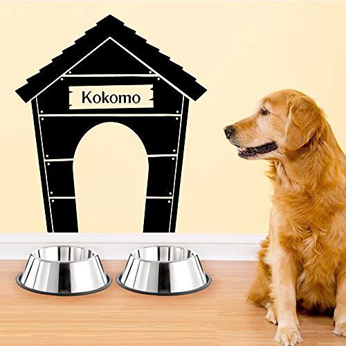 Tianpengyuanshuai Dibujos Animados Personalizado Mascota Perro Nombre Perrera Pared Pegatina Arte Cachorro Pared calcomanía 42X46cm
