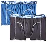 Dim Ecodim Mode Bañador, Multicolor (Bleu Turquin/Gris Granit 6uj), Large (Talla del Fabricante: 4) para Hombre