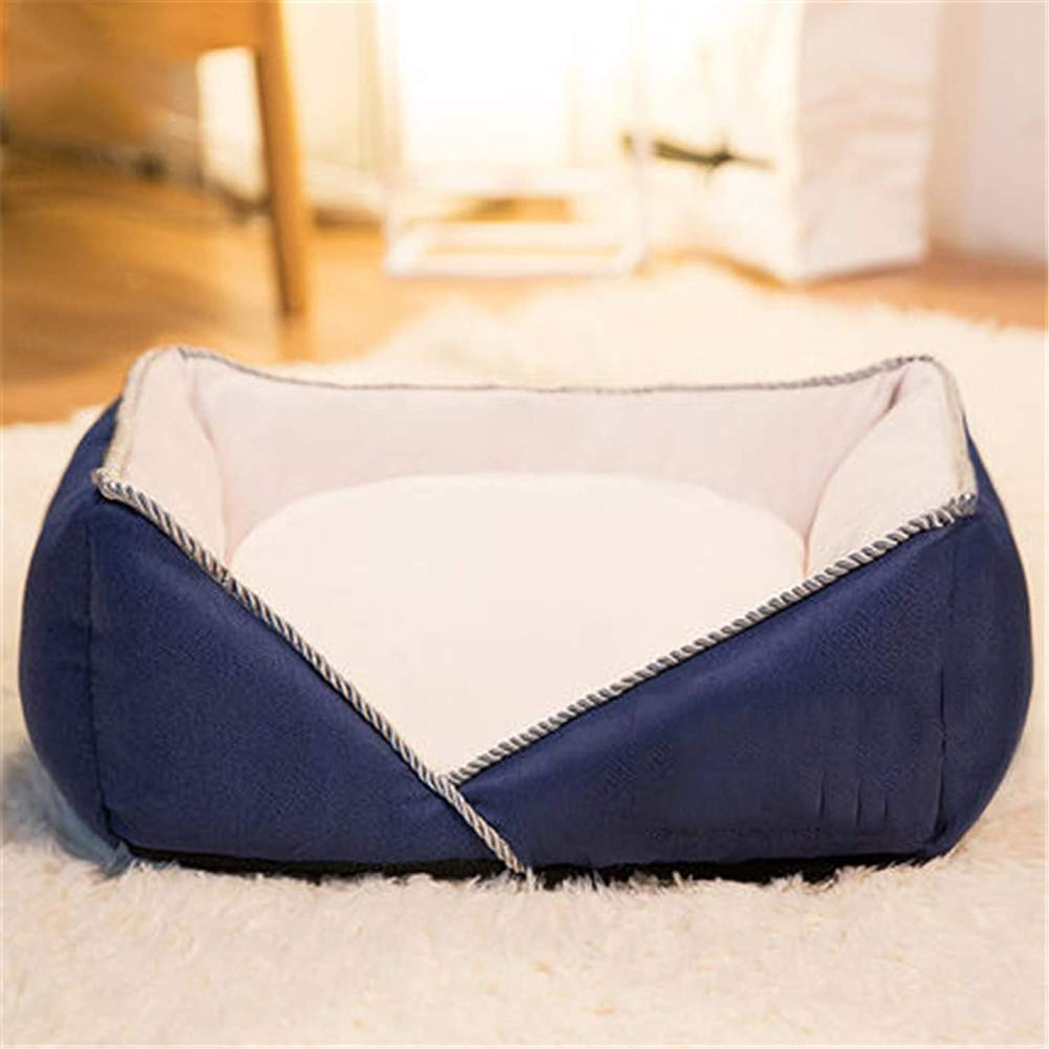 Dog Lounge, Waterproof Liner, YKK Premium Zippers, Breathable Cotton Blend Cover is Easy to Remove & Clean