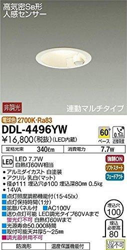 LED人感センサー付ダウンライト DDL-4496YW