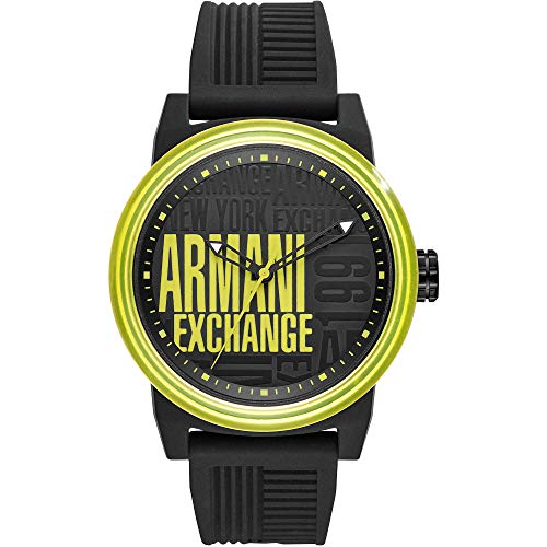 Armani Exchange Reloj Analógico para Hombre de Cuarzo con Correa en Silicona AX1583