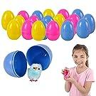 Meet Novelty Easter Eggs Small Chicks Pre-Filled Plastic Colored Eggs | 24 Pieces Egg Stuffer Filler, Party Favors, Church School Egg Hunt | Kids Girls Boys