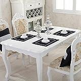 N\C ZSCC Juego de 4 Elegantes manteles Individuales de 11.8'x 15.7' con Lentejuelas y Diamantes de imitación en Contraste clásico para decoración de Mesa de Comedor de Banquete de Boda