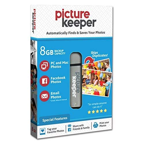 Picture Keeper 8GB Portable Flash USB Photo Backup and Storage Device for PC and MAC Computers
