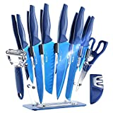 Wanbasion 13 Pieces Kitchen Knife Set Dishwasher Safe, Professional Chef Kitchen Knife Set, Kitchen...