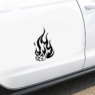 NA Stickers car 20cm X 12cm Car Styling Tribal Tattoo Fire Flame Wolf Paw Decal Car Window Truck Bumper