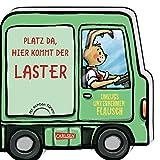 Mein kleiner Fahrzeugspaß: Platz da, hier kommt der Laster: Lustiges Reimebuch mit Klappen in Autoform - ab 1,5 Jahren