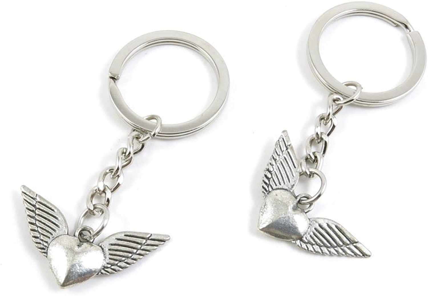 170 Pieces Fashion Jewelry Keyring Keychain Door Car Key Tag Ring Chain Supplier Supply Wholesale Bulk Lots C1SI3 Wings Heart