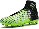 Littleplum Kids Soccer Cleats Boys High Ankle Sock Soccer Shoes Athletic Football Shoes Performance...