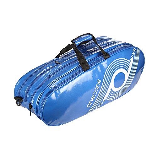 One O One Xhale Collection Triple Blue PVC Badminton/Tennis Kitbag