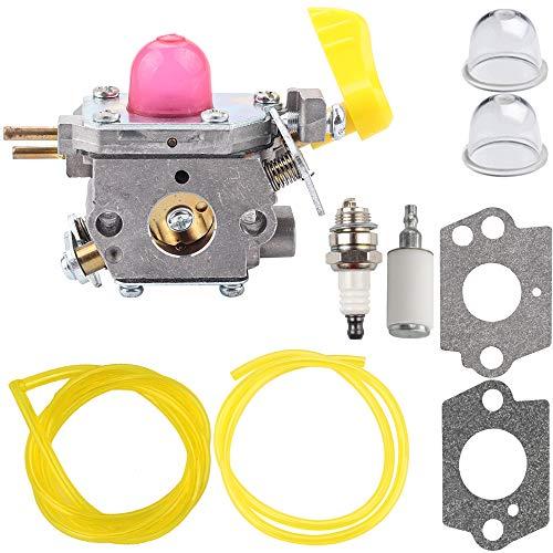 Kizut 545180811 Carburetor for Poulan BVM210VS SM210VS C1U-W45A Pro Leaf Blower Parts Fuel Line Filter Primer Bulb Kit