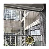 GDMING Balcón Impermeable Cortina, Transparente Persianas Enrollables Abajo Ventanas Cubrir para A Prueba De Polvo Panel con Ojales A Prueba De Viento, 36 Tamaños (Color : Claro, Size : 1.3x2.5m)