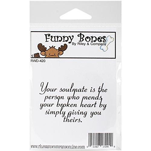 Riley & Company Rubber Funny bot zelfstempel 2,5 x 4,4 ° cm, uw zielenverwante