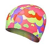 Boomly Estate Unisex Adulto Puro Colore Elastico Comoda Cuffia da Nuoto Panno del Tessuto Nuoto Cappello per Bagno Piscina
