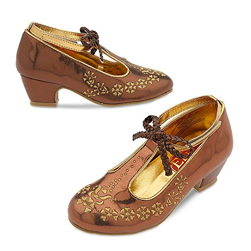 Disney Elena of Avalor Costume Shoes for Kids Size 7/8 TODLR Gold
