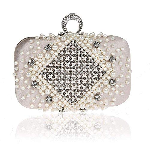 XiaoZou Vestido de Noche Bolso de Novia con Perla de Diamante Bolso...