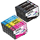 Kingway 34XL 34 cartucce di ricambio per Epson 34xl Epson 34 per Epson Workforce Pro WF-3725 WF-3720 WF 3725 WF 3720 WF 3725DWF WF 3720DWF (3 nero, 20ciano, 2 magenta, 2 giallo)