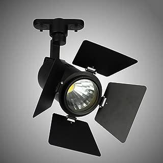 Vinteen Foco LED Ajuste de Cuatro Hojas Foco Tienda de Ropa Iluminación de riel Foco LED Riel de Pista Ventas directas de fábrica 10W15W Luz de Techo COB (Color : Black Neutral Light, tamaño : 10W)