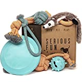Keen.Pet.Play Puppy Dog Toys - Gift Box for Dog Training, Puppy Toys from 8 weeks, Dog Birthday Present & Puppy Teething Toys for Boredom (Pack of 6)