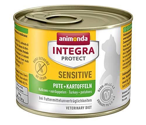 Animonda Integra Protect Sensitive kattenvoer, voeder bij dierenallergie, verschillende smaken, Natte voering, 6 x 200 g