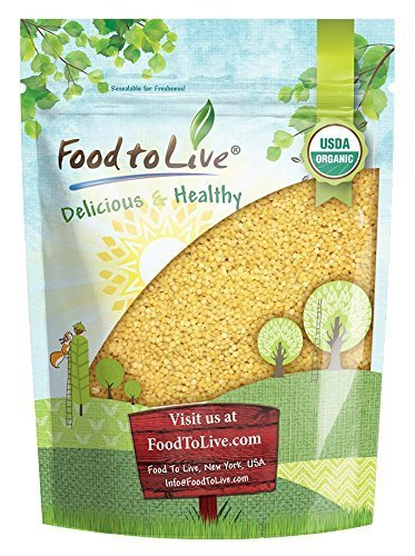 Organic Whole Wheat Couscous, 3 Pounds - Non-GMO, Kosher, Raw, Vegan, Bulk