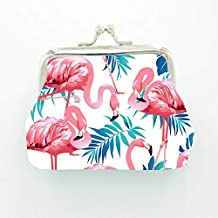 5Pcs Flamingo Geldbörse für Hawaii Party Decor Münze Geldbörsen Tasche Cartoon Kupplung Null Brieftasche Geburtstag Partei Liefert