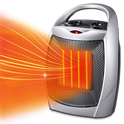 Kismile 10 Inch Small Electric Space Heater for Indoor Use - Ceramic Space Heater for...