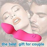 Handfreies Silikon Pleasure Pink Paar USB Wiederaufladbar Ḅùtt Plùg Vïbrïerende Ṥchwḁnz...