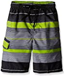 Kanu Surf Boys' Little Quick Dry UPF 50+ Beach Swim Trunk, Specter Charcoal, 7