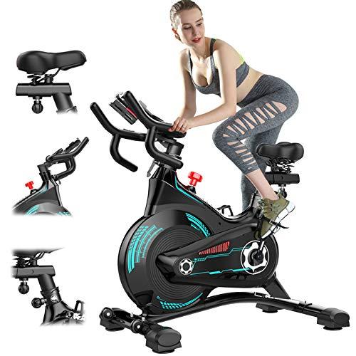 ATGTAOS Bicicleta de Ciclismo para Interiores Estacionaria - Bicicleta de Ciclo con Soporte para Teléfono Celular y Cómodo Cojín de Asiento