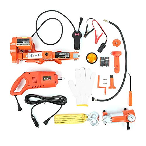 Buy Bargain 3T Multifunction Electric Hydraulic Jack, Impact Wrench Air Pump Set Car Repair Kit, Aut...