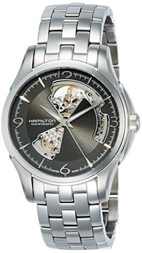 Orologio Hamilton Jazzmaster H32565185 Automatico Acciaio Quandrante Antracite Cinturino Acciaio
